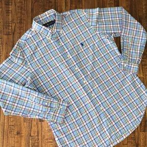 Men's Ralph Lauren Large plaid button down shirt